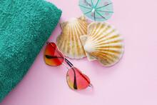 Beach Vacation Mockup With Sun...