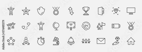 Fotografija Set of Success Related Vector Line Icon