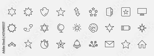 Foto Set of Stars Vector Line Icons