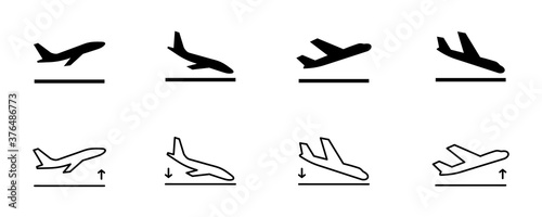 Papel de parede Arrivals and departure plane signs