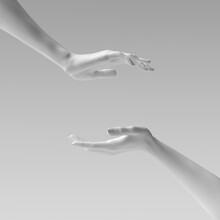 Two Female Hand Sculptures Giv...