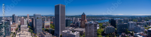 Portland Oregon During Protests View of Federal Buildings and surrounding area