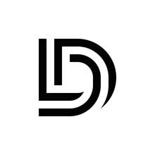 D L Dl Ld Logo Design Vector Symbol Graphic Idea Creative