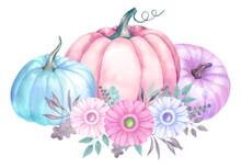 Watercolor Design With Delicat...