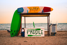 Paddle Surf Stand, Board And Hammock Rental At The Beach