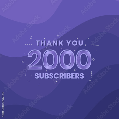 Fotografering Thank you 2000 subscribers 2k subscribers celebration.