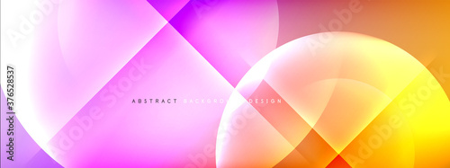 Vector abstract background - circle and cross on fluid gradient with shadows and light effects Wallpaper Mural