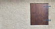 canvas print picture - brown Window Shutter, closed