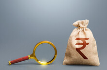 Indian Rupee Money Bag And Mag...