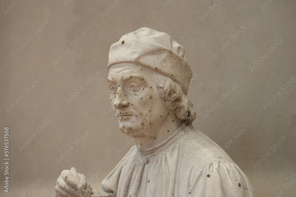 Sculptures of the Accademia Gallery, Florence, Italy