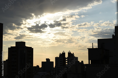 Fototapety, obrazy: a picture of the sunrise in my city