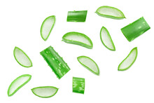 Aloe Vera Sliced Isolated On W...