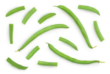 Green Beans Isolated On A Whit...