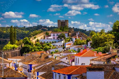 Historic walled town of Obidos, near Lisbon, Portugal Fototapete