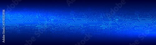 Obraz na plátně Wide High-tech technology background texture