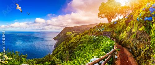 Fotografia, Obraz Viewpoint Ponta do Sossego, Sao Miguel Island, Azores, Portugal