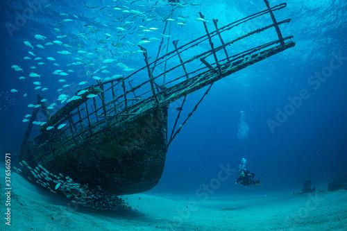 Photo Diver on wrecks in Sint Maarten