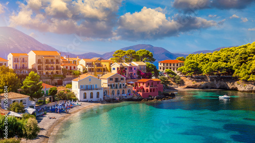 Fotografia Assos village in Kefalonia, Greece