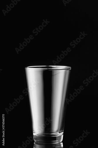 Fototapeta Empty glass on dark background obraz na płótnie
