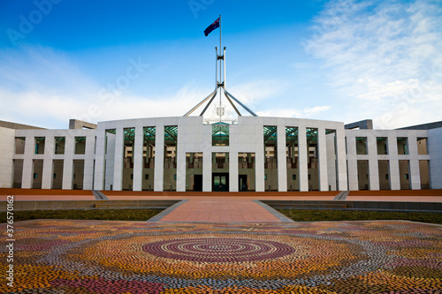 Fototapeta This is the Australian Parliament House in Canberra