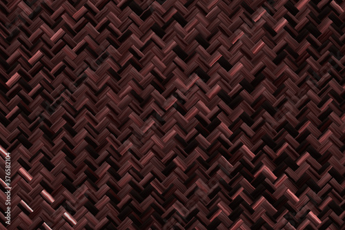 Rattan texture, detail handcraft bamboo weaving background Slika na platnu