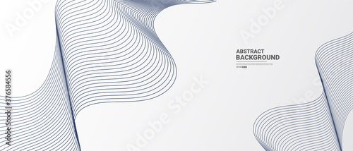 Obraz White Abstract background with flowing lines wave.vector illustration.	  - fototapety do salonu