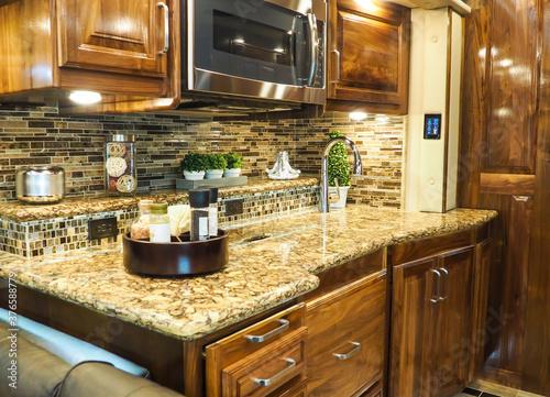 Slika na platnu Class A Motorhome luxury kitchen