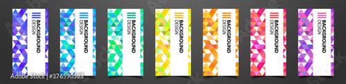 Photo 三角形が並んだ抽象的な背景デザイン、図形のパターンデザイン、カードデザインのテンプレート