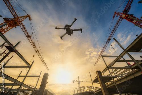 Fotografia Drone over construction site