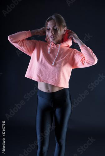 Fényképezés portrait of a young woman, shooting in a photo studio