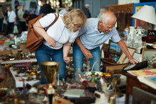Elderly Couple In Flea Market ...