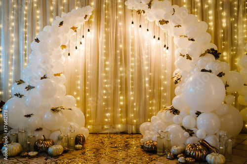 Decorated arch for wedding ceremony Canvas Print