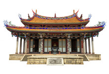 The Taipei Confucius Temple Isolated On White Background. It Is A Confucian Temple In Datong District, Taipei, Taiwan.