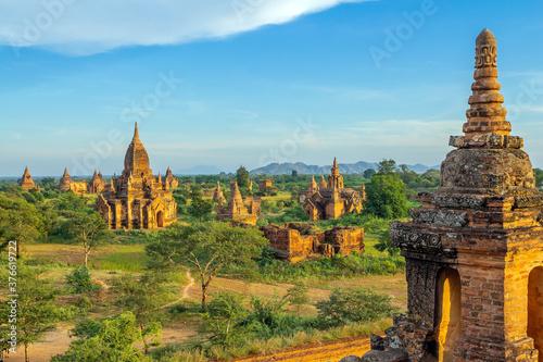 Fotografiet Bagan cityscape of Myanmar in asia