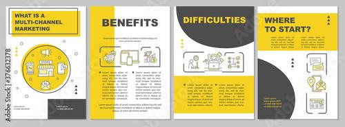 Fotografia, Obraz Multi-channel marketing brochure template