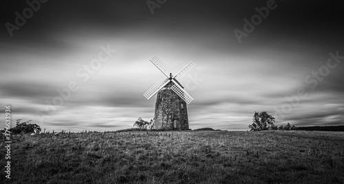 Old windmill in the field