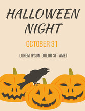 Poster Of Halloween Party With...