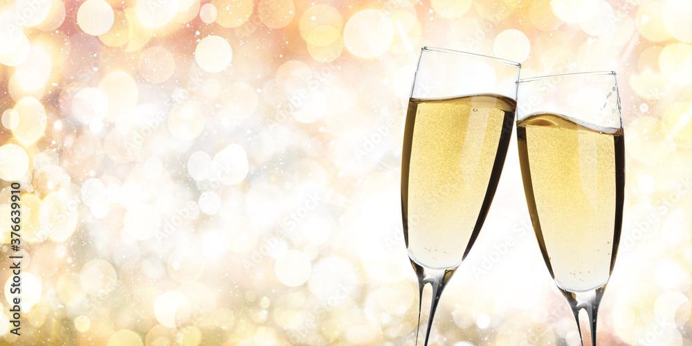 Fototapeta Christmas and New Year greeting card