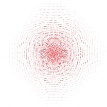 Pattern Of Red Dots On White Background