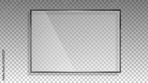 Fotografering Transparent glass frame