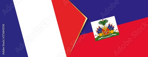 Fotografia, Obraz France and Haiti flags, two vector flags.