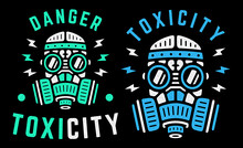 Toxicity. Danger. Vector Color...
