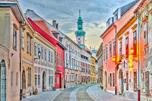 Tela Sopron Landmarks, Hungary, HDR Image