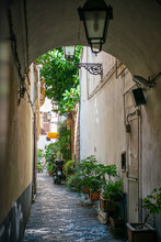 Narrow Alley In Naples