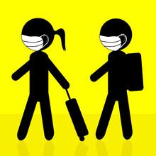 Children Silhouette Wearing Fa...