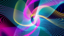 Abstract Kaleidoscope Graphics.Sci-fi Background With Colorful Glowing Line