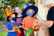 Kids Trick Or Treat. Halloween...