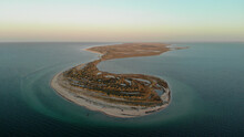 Aerial View Of The Eastern Edge Of The Dzharylhach Island In The Kherson Region