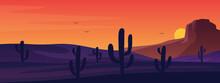 Texas Or Mexican Desert Panora...