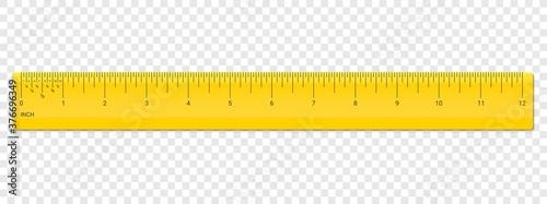 Photo Ruler inch scale vector plastic measurement
